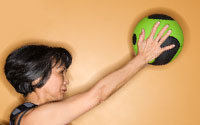 patient lifting exercise ball